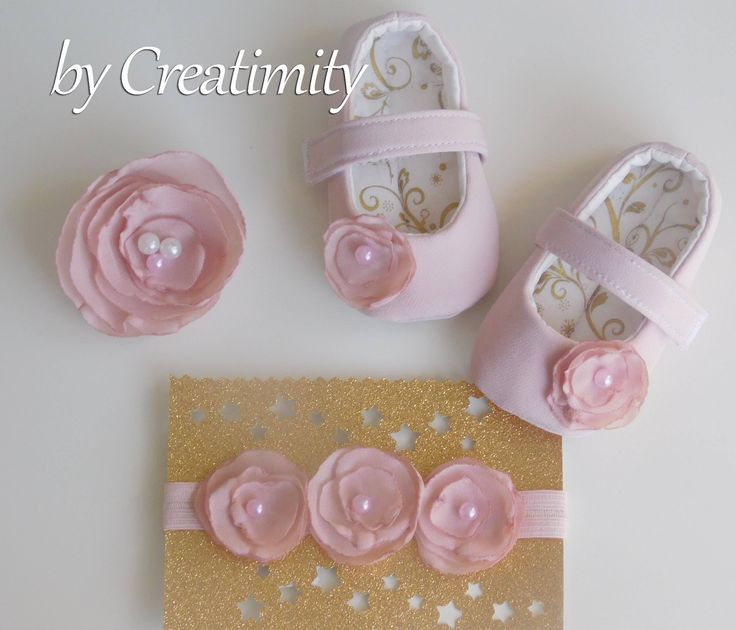 Pink baby girl shoes, matching mommy and daughter, christening shoes, baptism shoes, soft sole shoes, crib shoes, baby gift, baby shower by CreatimityElegance on Etsy