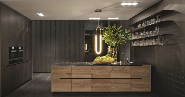 Poliform Varenna Phoenix 2 Kitchen In Solid Walnut