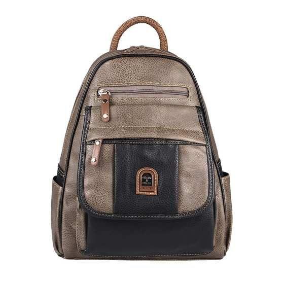 Vintage Rucksack Leder Damen Herren Handtasche Schule Stadt Reise Schultertasche