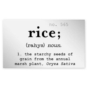 Rice Clear Jar Label