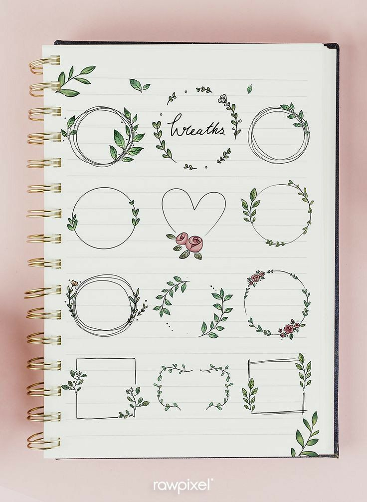 25 Easy Doodle Art Drawing Ideas For Your Bullet Journal - Brighter Craft Bullet Journal School, Bullet Journal Headers, Bullet Journal Banner, Bullet Journal Notebook, Bullet Journal Ideas Pages, Bullet Journal Inspiration, Borders Bullet Journal, Bullet Journal Title Page, Bullet Journal Design Ideas