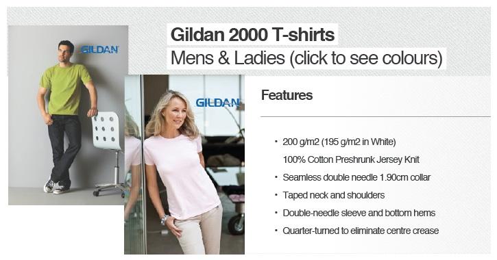 GILDAN 2000/L PRICES PER UNIT  (T-shirt and print) http://www.mabuzi.com/1000-t-shirt-special.html