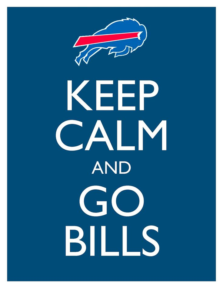 Keep Calm and Go Bills - 8x10 Picture - Wall Hanging - Buffalo Football NFL Blue. $7.90, via Etsy.