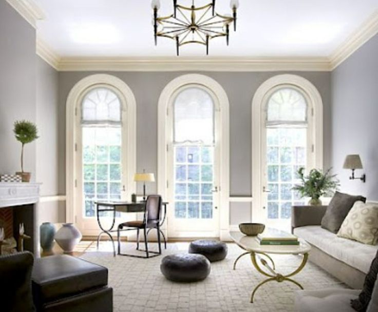 ceiling paint color ideas - Revere Pewter by Benjamin Moore