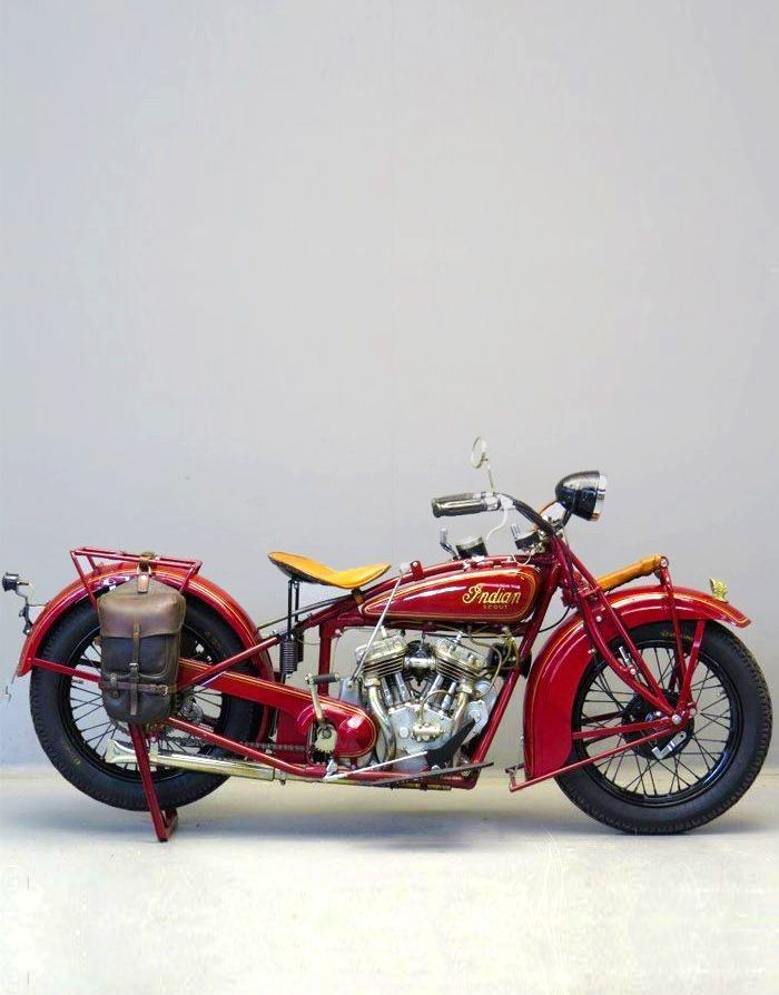 red Indian, motorcycle, scout, 1930, 750 cc side valve V-twin frame ...