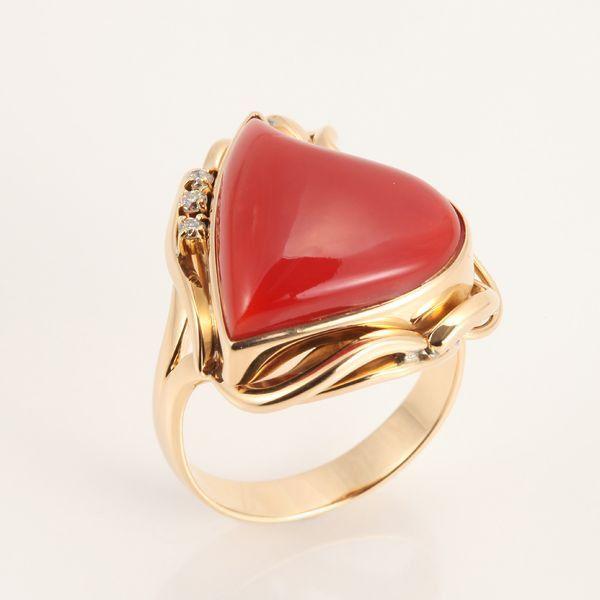【GINZA PARIS】K18 红珊瑚 戒指/180,000日元