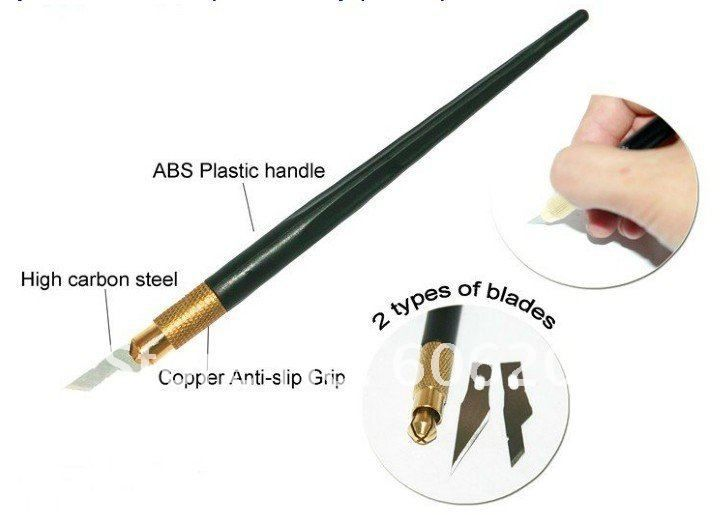 Shipped for free Free shipping! Wholesales ABS plastic handle+Copper anti-slip+High carbon blade(SK-2) graver,2pcs/lot(13.1*1cm,D-108)
