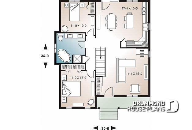 Discover The Plan 2171 Kara Which Will Please You For Its 2 Bedrooms And For Its Country Styles House Plans Tiny House Floor Plans Small House Design Plans