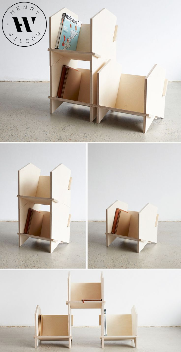 Modular storage furniture systems - I Am Loving This Chevron Shelf Modular Shelving System By Sydney Designer Henry Wilson He Has Invented This Great Joinery System Which M