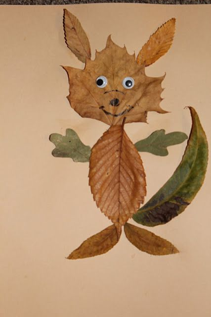 Leaf pictures - so cute... lots of examples!