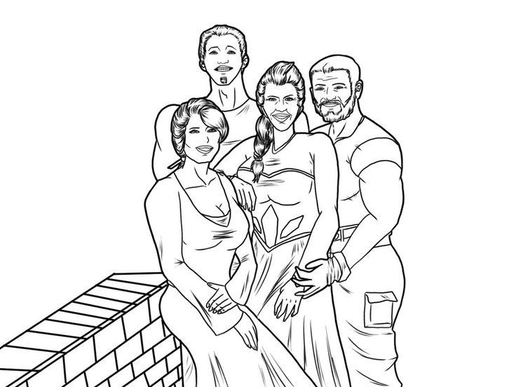 Lineart: Family Portrait  by HannaEsser