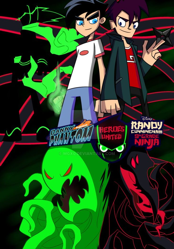 Danny Phantom and Randy Cunningham - Heroes United by Mgx0 on DeviantArt