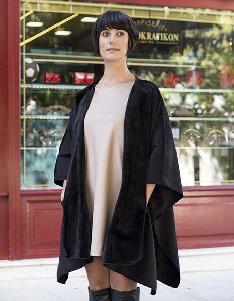 Overcoat doublefash onesize velvet - viscose!!! www.cherryschoice.gr