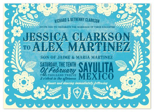 mexican style wedding invite