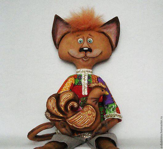 Игрушки животные, ручной работы. Ярмарка Мастеров - ручная работа. Купить Кот Василий с курочкой.. Handmade.