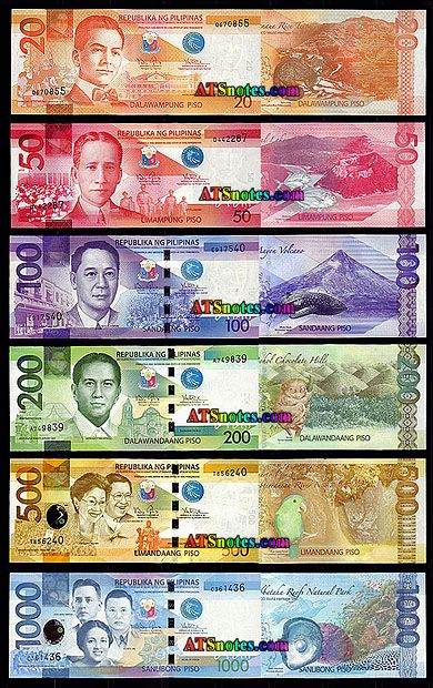 Cur Currency Philippines Banknotes