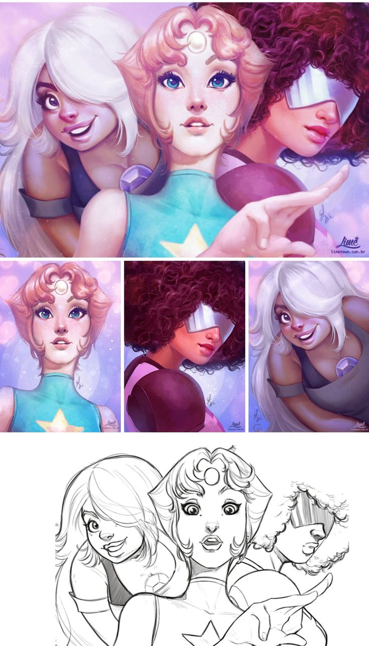 We are the crystal gems -- garnet amethyst and pearl