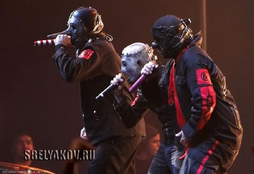 Chris Fehn and Shawn Crahan | Chris Fehn, Corey Taylor & Shawn (Clown) Crahan