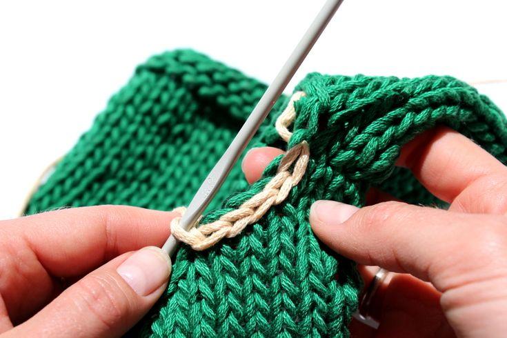 How To Trim Neckline In Knitting