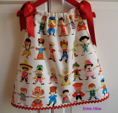 """Entre Hilos: Tutorial: como hacer un """"pillowcase dress"""""""