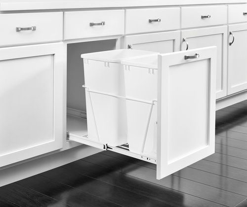 The RV Series of wire frame waste containers offers several sizes, finishes and slide options to accommodate a variety of cabinet openings, styles and price points. | http://buff.ly/2qjZnCM?utm_content=buffer92bf1&utm_medium=social&utm_source=pinterest.com&utm_campaign=buffer