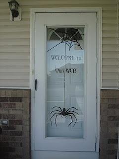 Halloween door decoration diy