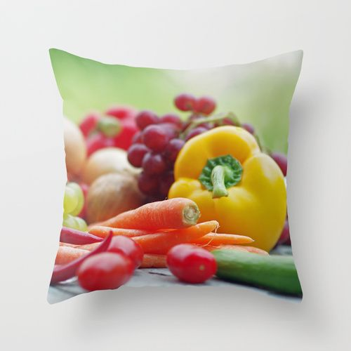 Fruits and Vegetables Variety in the kitchen Throw Pillow