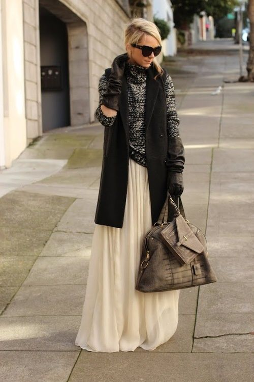 News | Daily Chic sunglasses fashion clothing apparel style women outfit long maxi white skirt scarf black handbag