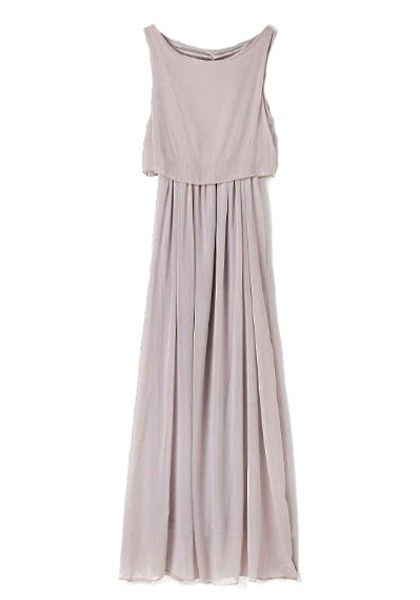 want want want, need need need   light grey chiffon maxi, perfection