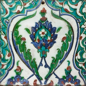 An Iznik pottery Tile Turkey, 17th Century