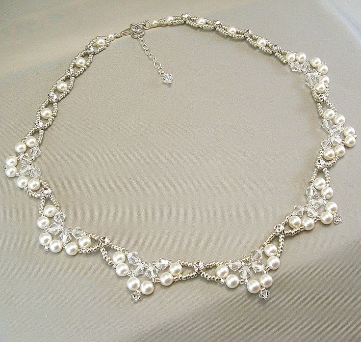 Choice of White or Cream Swarovski Pearl and от BridalDiamantes