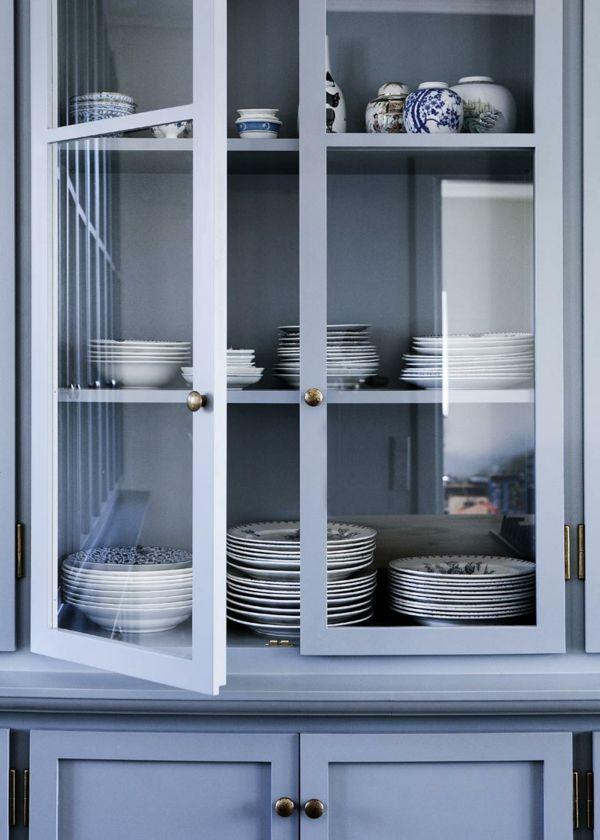 Die besten 25+ blaue Küchenschränke Ideen auf Pinterest Blaue - k che im schrank