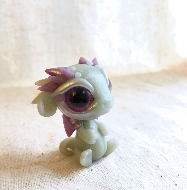 Handmade Polymer Clay Dragon Babies In All Varieties of Adorableness.
