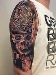 Schädel und Schlange Tattoo 28 #tattoosformenideas