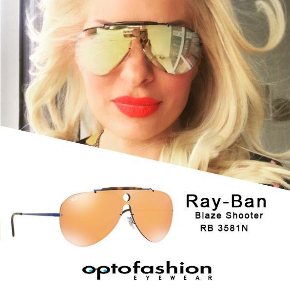 Η εντυπωσιακή Ελένη Μενεγάκη εντοπίστηκε φορώντας τα νέα Ray-Ban Blaze Shooter.  Δοκιμάστε τα και εσείς στο  optofashion