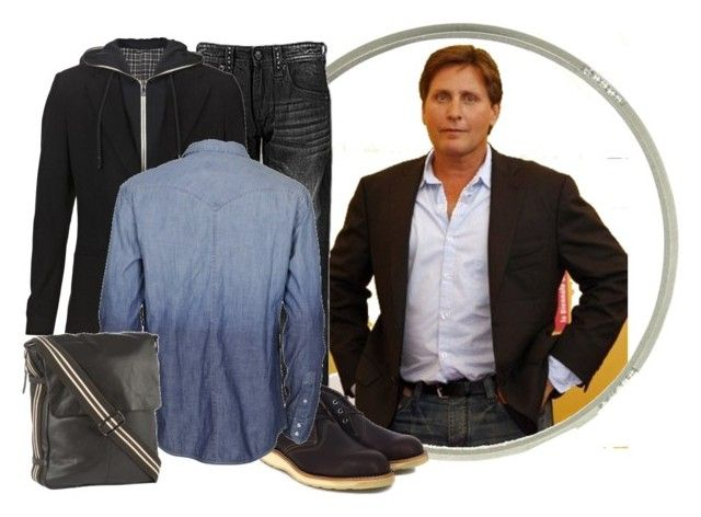 """""""Emilio Estevez"""" by detaylle ❤ liked on Polyvore featuring Elyse Jacob, Rock Revival, Dolce&Gabbana, Red Wing, Levi's and Rocha.John Rocha"""