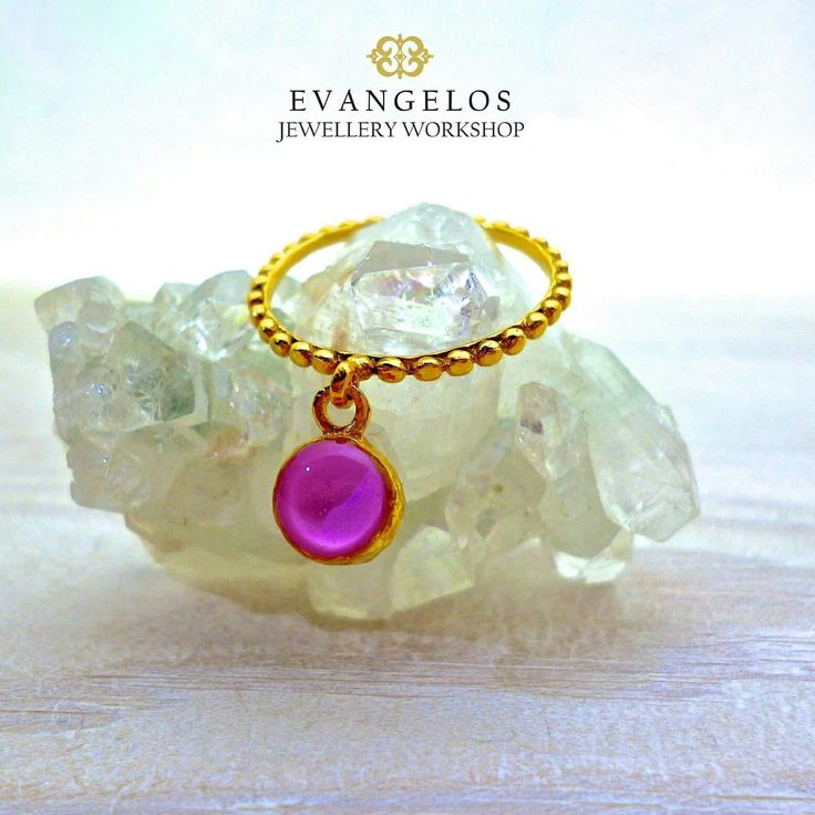 New Listing!! This brilliant and playful ring is so fun to wear. Light and color will move as you move. It comes in 39 different colors.   Evangelos Jewellery Workshop