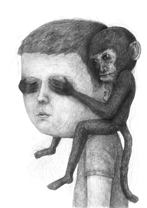 love the shading—Drawings 2013-14 part 1 by Stefan Zsaitsits, via Behance