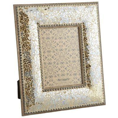 Shimmering Gold Mosaic 5x7 Photo Frame | Mosaics, Mosaic glass and ...