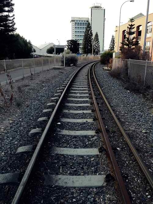 Fremantle, Perth, Western Australia. Chanced upon this railway track while exploring