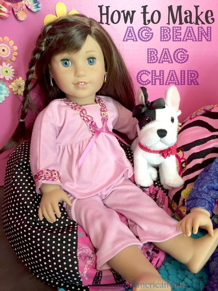 how to make an American Girl bean bag chair More