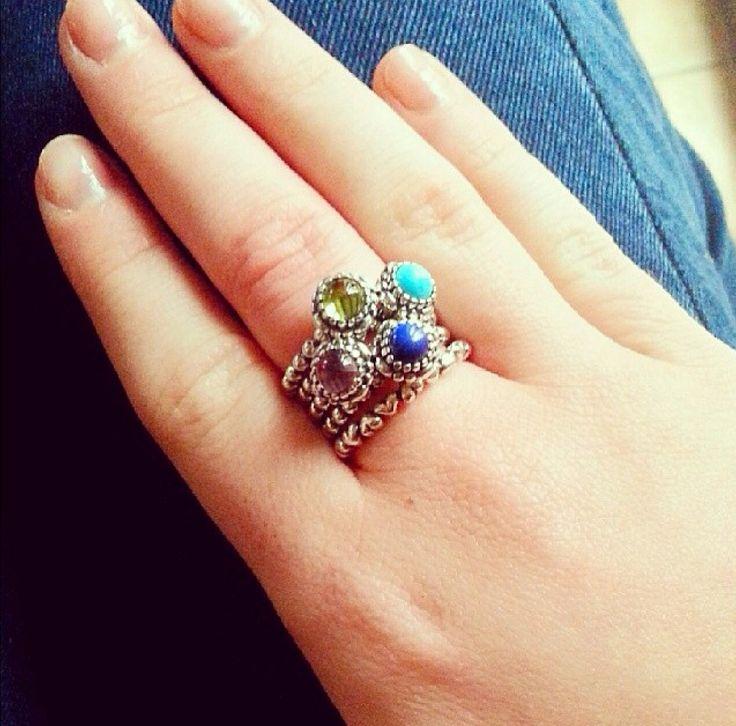 Gorgeous Stack On Pandora Birthstone Rings Style