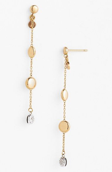 Roberto+Coin+Diamond+Linear+Earrings+available+at+#Nordstrom