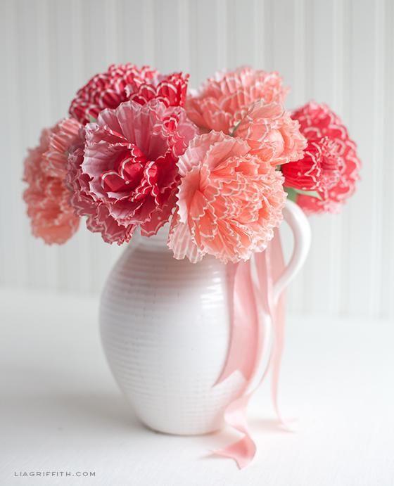 DIY Spring Decor : DIY Paper Peonies From Cupcake Wraps