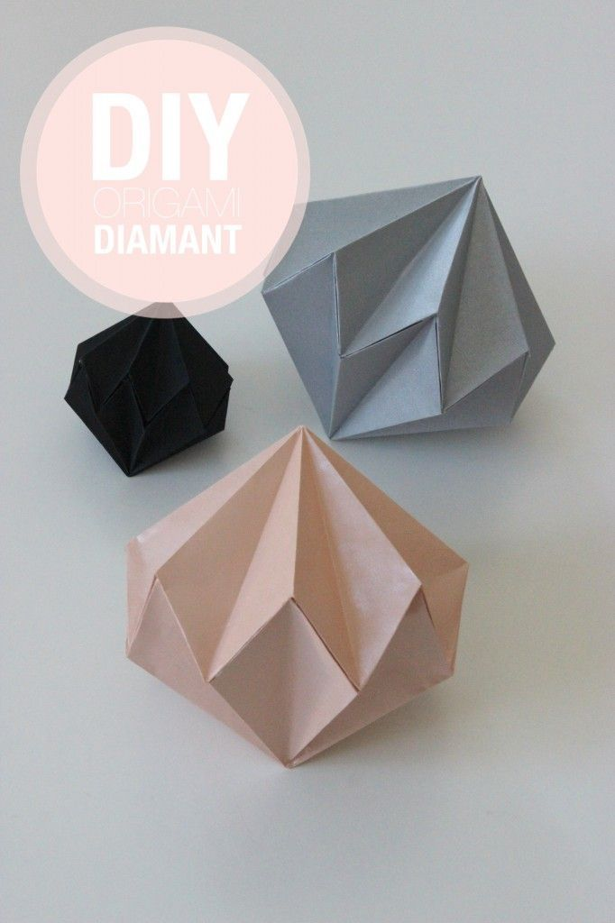 DIY: Origami Diamante