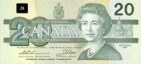 Canadian Dollar | 20 Canadian Dollar Note
