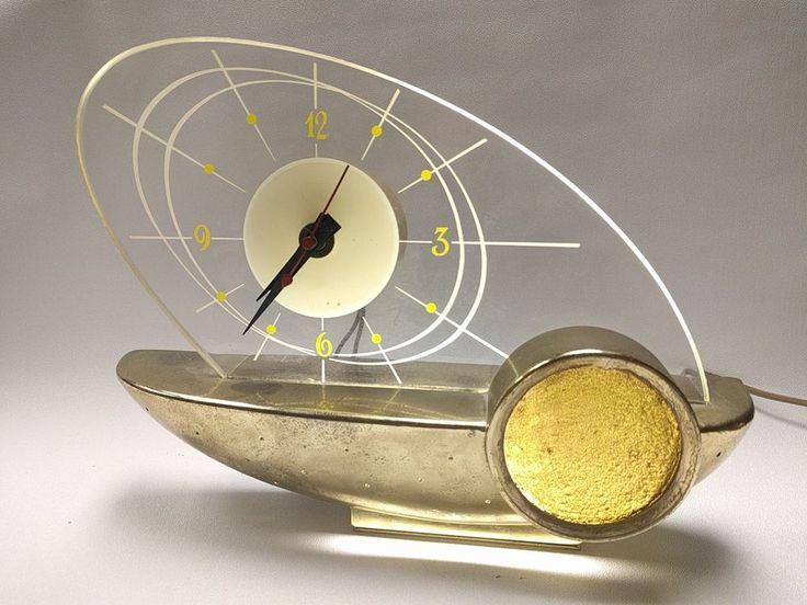 SCHAEFER BREWING CO. LIGHT UP ATOMIC CLOCK OHIO ADVERTISING DISPLAY CO. 50-60'S. | Collectibles, Advertising, Merchandise & Memorabilia | eBay!