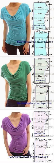 Magliette con collo drappeggiato - draped t-shirts #topsmoda