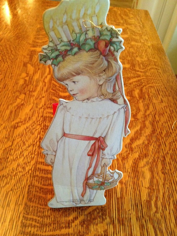Santa Lucia Standing Gift Bag Sweden Christmas Kathy Lawrence St. Lucia Unique! in Collectibles, Holiday & Seasonal, Christmas: Modern (1946-90), Other Modern Christmas | eBay