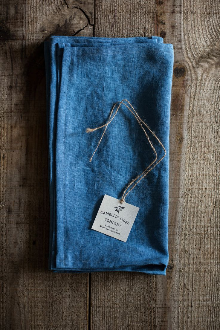 hand dyed & sewn indigo linen napkins by Camellia Fiber Co. // Sweet Gum Co. a holiday pop up shop by Local Milk